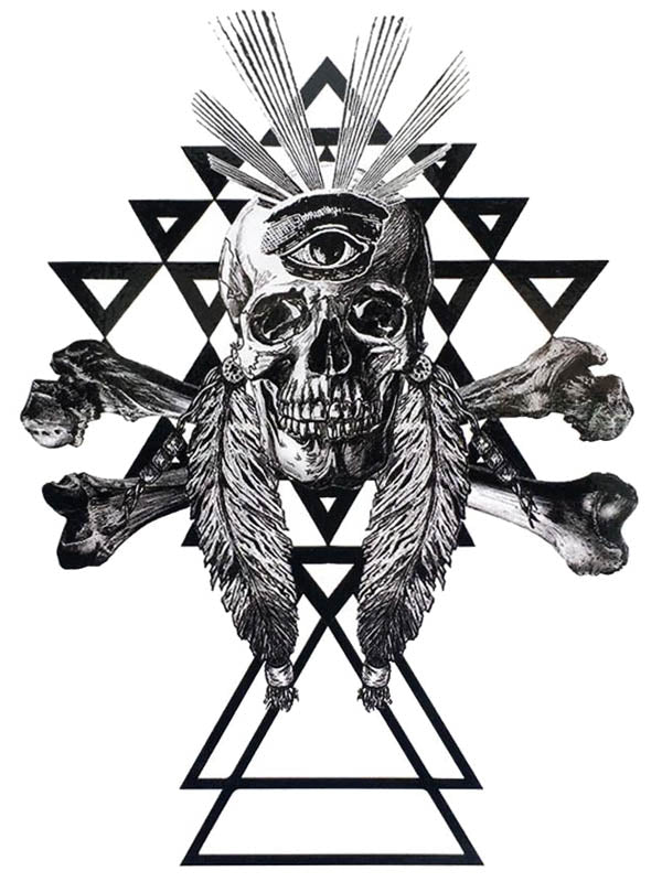 Skull, Triangles and Eye