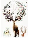 Stag, Deers in Love, Flowered Doe and Fawn