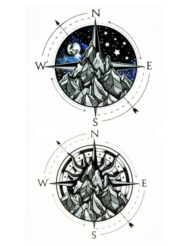 Starred Night and Compass