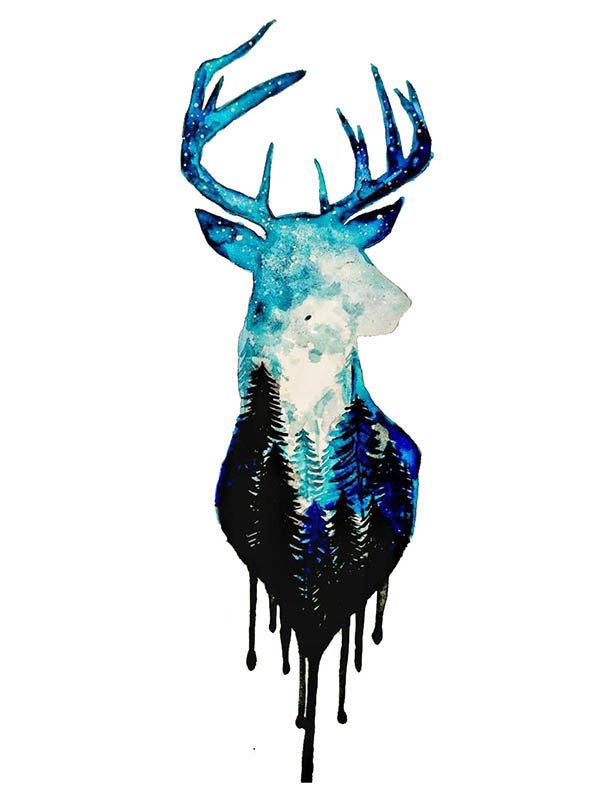 Starry Night Deer
