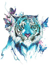 Tiger and Butterflies