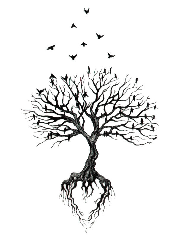 Tree, Birds and Roots