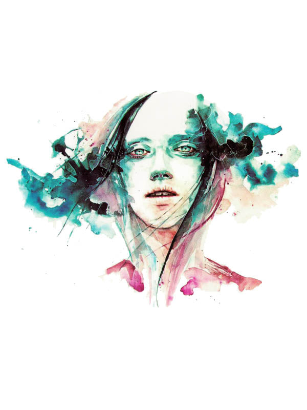 Watercolor Dissolving Girl