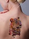 Watercolor Leopard - Tatouage Ephémère - Tattoo Forest