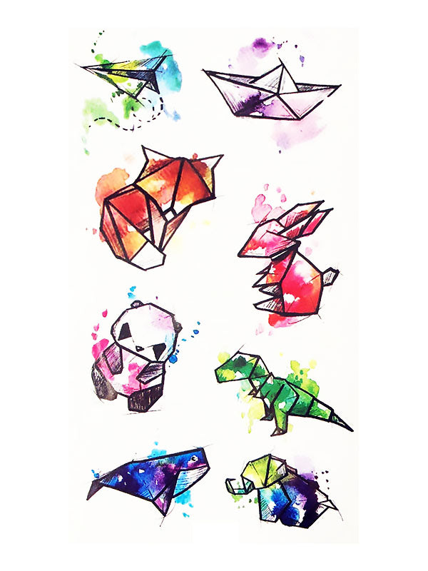 Watercolor Origami Animals