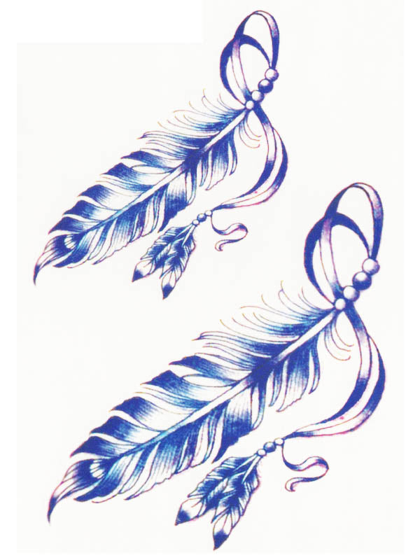 White and Blue Feathers