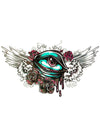 Winged Eye with Red Roses
