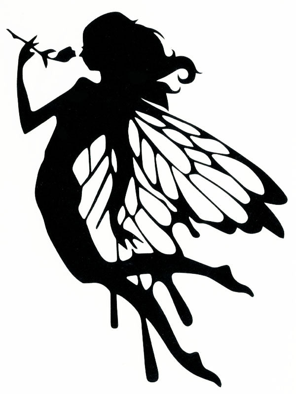 Winged Fairy with a Rose