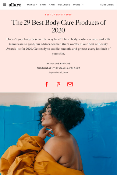 Allure Best of Beauty 2020 winner - Body - Care