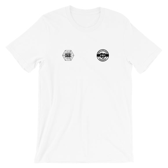 Ulcan x 53 Unisex T-shirt - White /  Black - 53Outdoors