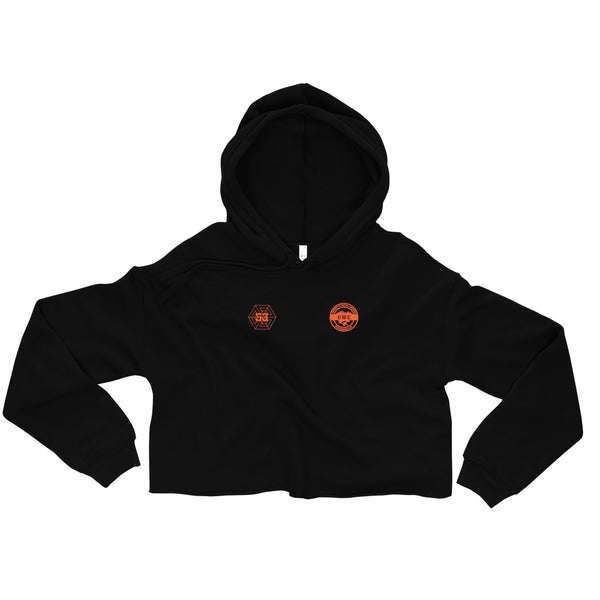 Ulcan x 53 Womens Cropped Hoodie  - Black / Orange - 53Outdoors