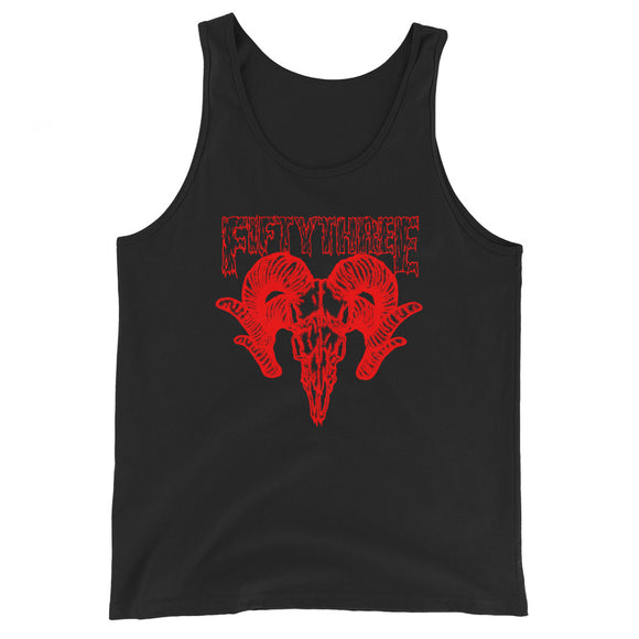Duo Goat Unisex  Tank Top - Black / Red - 53Outdoors