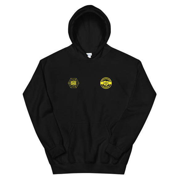UClan x 53 Unisex Hoodie - Black / Yellow - 53Outdoors