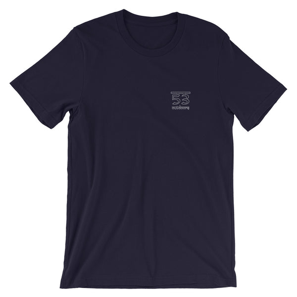 Balance Short-Sleeve Unisex T-Shirt - Navy / White - 53Outdoors
