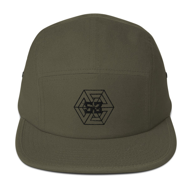 53 Gego Logo Five Panel Cap - Olive - 53Outdoors
