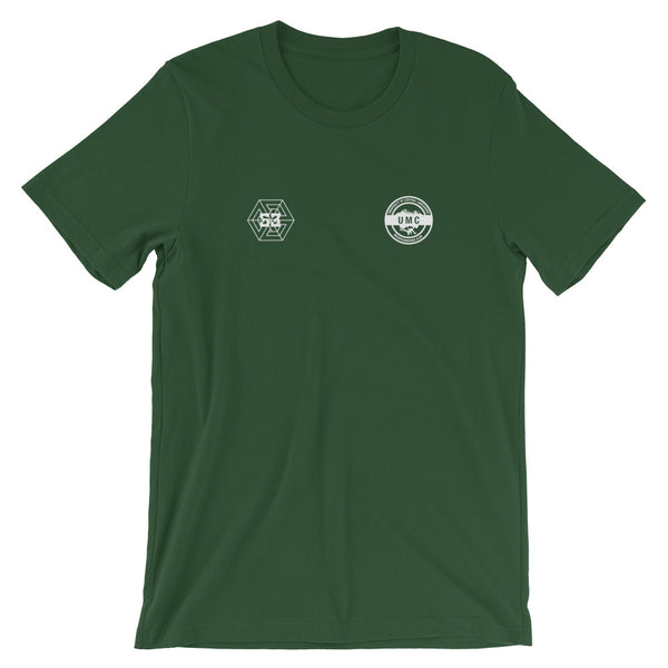 Ulcan x 53 Unisex T-shirt - Forrest Green / White - 53Outdoors