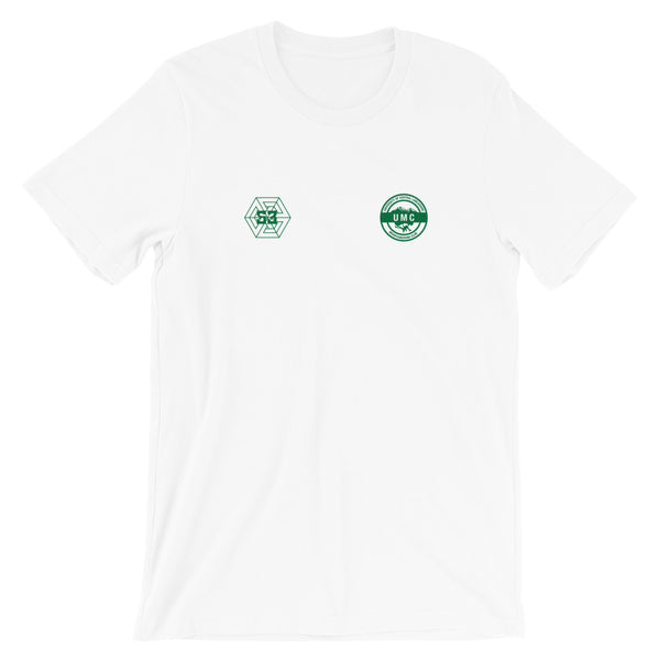 Ulcan x 53 Unisex T-shirt - White / Dark Green - 53Outdoors