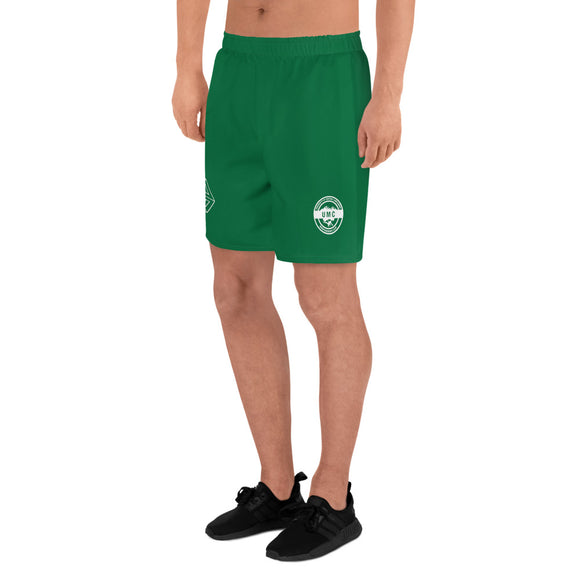 UClan x 53 Men's Athletic Long Shorts - Green / White - 53Outdoors