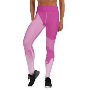 Pink Mountain Yoga Leggings - 53Outdoors
