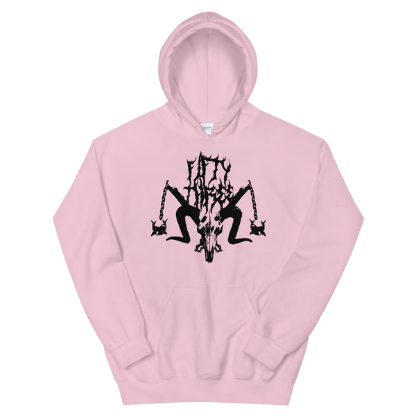 Power Trip Unisex Hoodie - Soft Pink / Black - 53Outdoors