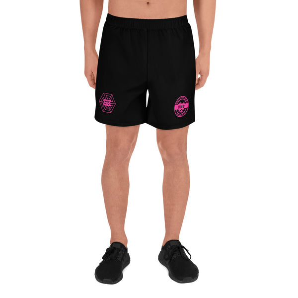 UClan X 53 Men's  Athletic Long Shorts - Black / Hot Pink - 53Outdoors