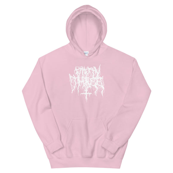 Mosh Mosh Unisex Hoodie - Soft Pink / White - 53Outdoors