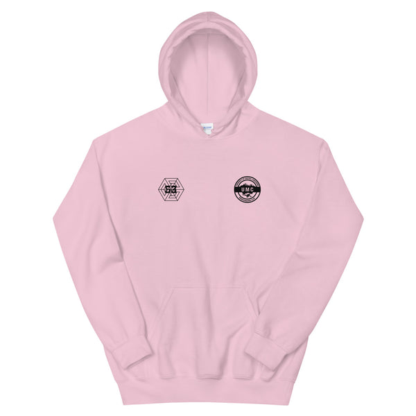 UClan x 53 Unisex Hoodie - Soft Pink / Black - 53Outdoors