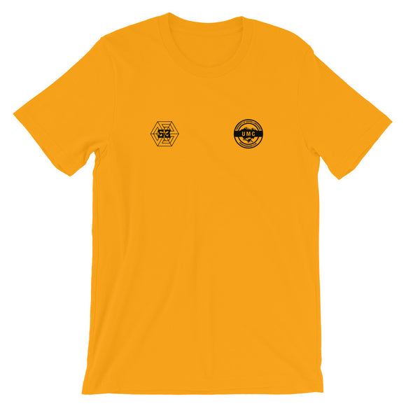 Ulcan x 53 Unisex T-shirt - Gold / Black - 53Outdoors