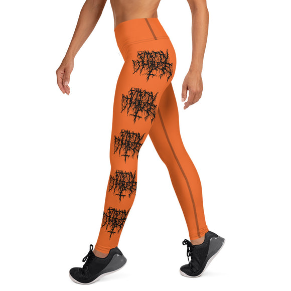 Mosh Mosh Yoga Leggings - Orange / Black - 53Outdoors