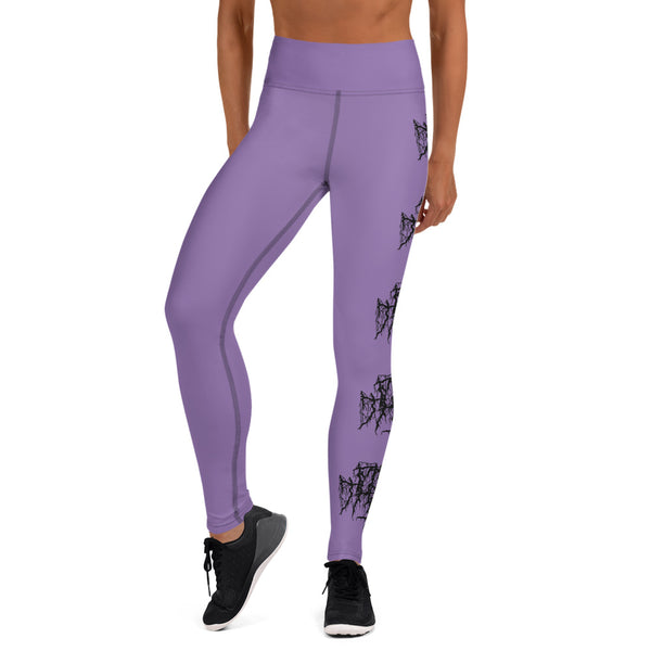 Mosh Mosh Yoga Leggings - Purple / Black - 53Outdoors