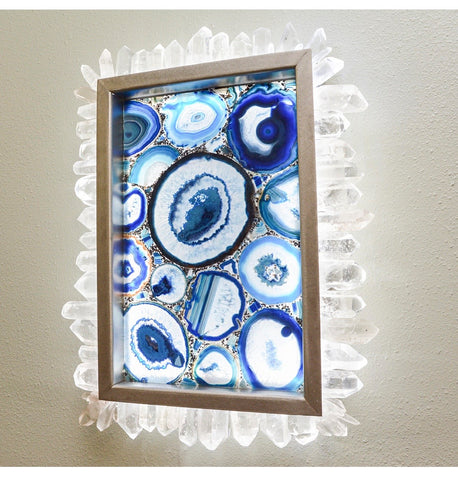 Luxurious Agate Frame with Crystals