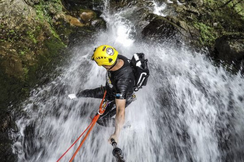 Monsoon Rappelling @ Bekare Waterfall