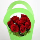 Red Roses in Green Sleeve Bag (10 Red Roses)