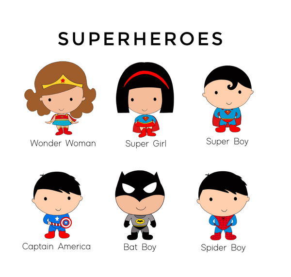Superhero Siblings Personalized A4 Print (with frame)