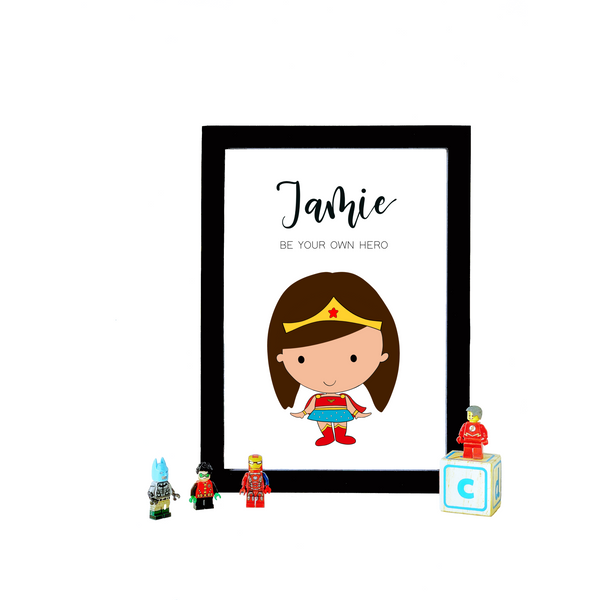 Wonder Woman Personalized A4 print (with Frame)