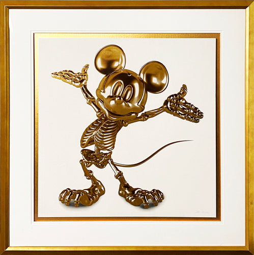 ALESSANDRO PAGLIA 'Gold Era' (Mickey) Screen Print Framed