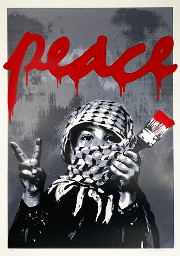 ALESSIO-B 'Peace' (red) Screen Print