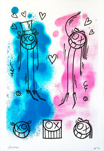 MR. ANDRÉ 'Mr. A & Miss A' (Uncut Love Ed.) Screen Print