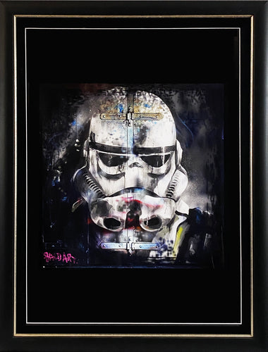 ANDY BAKER (Bald Art) 'Stormtrooper' Screen Print Framed
