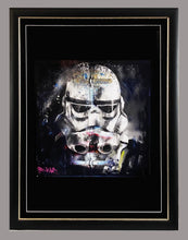 Load image into Gallery viewer, ANDY BAKER (Bald Art) 'Stormtrooper' Screen Print Framed