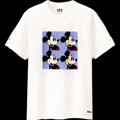 ANDY WARHOL x Uniqlo 'Mickey Mouse (4 Mickeys)' (white) T-Shirt