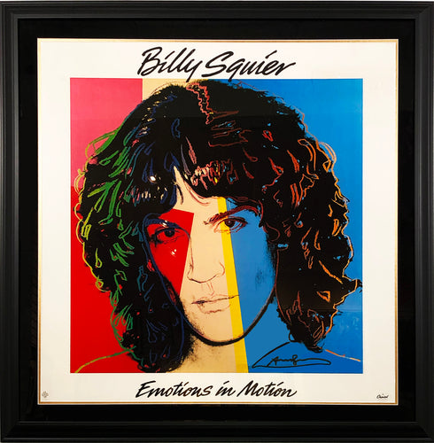ANDY WARHOL 'Billy Squier' Signed Promo Poster - Signari Gallery