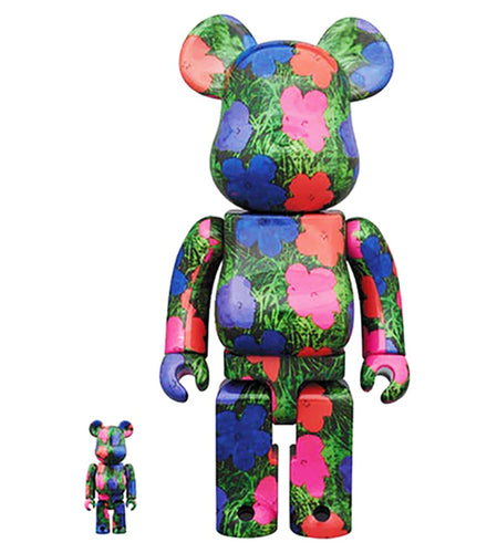 ANDY WARHOL x Be@rbrick 'Flowers' Art Figure Set