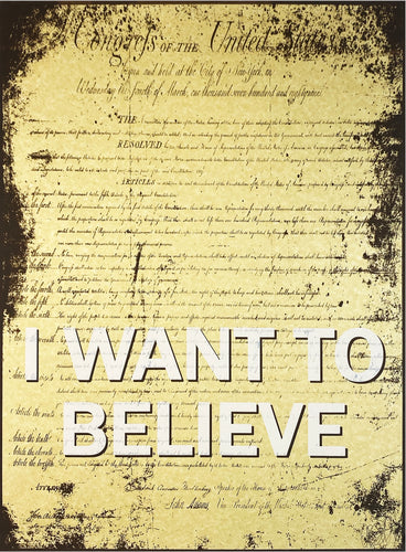 ARMANDO CHAINSAWHANDS 'I Want to Believe' Offset Lithograph