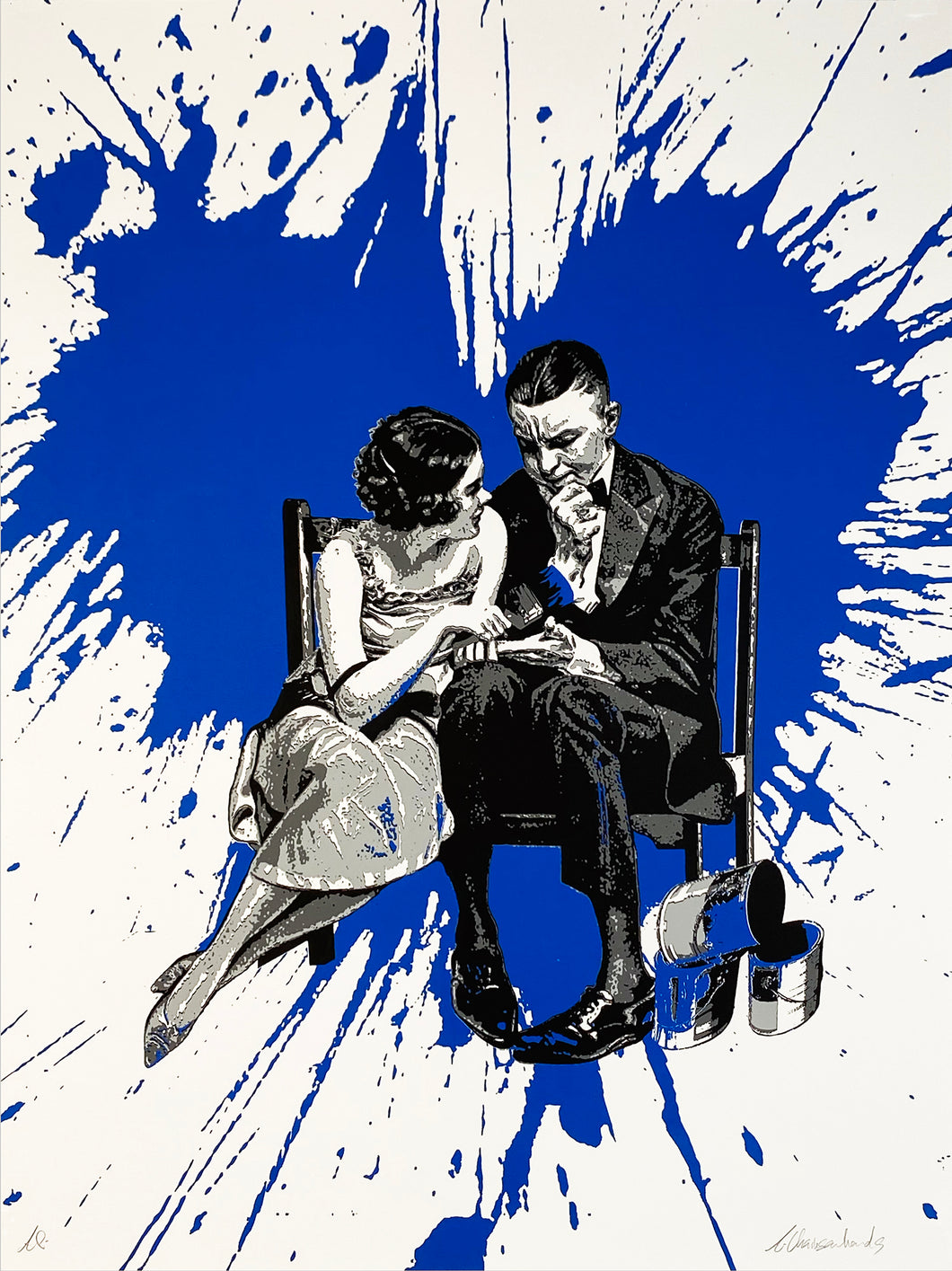 ARMANDO CHAINSAWHANDS 'Partners in Crime' (blue) Screen Print