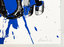 Load image into Gallery viewer, ARMANDO CHAINSAWHANDS 'Partners in Crime' (blue) Screen Print