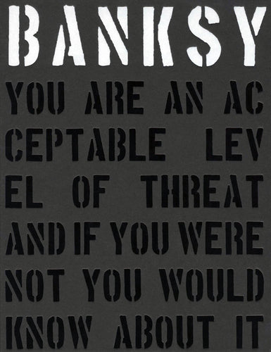 BANKSY 'You're an Acceptable Level of Threat' Hardcover Book