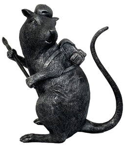 BANKSY (after) 'Black Rat' Fiberglass Sculpture