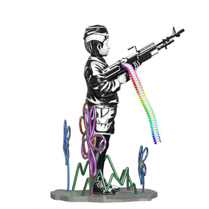 BANKSY (after) 'Crayon Shooter' Polystone Sculpture (1)