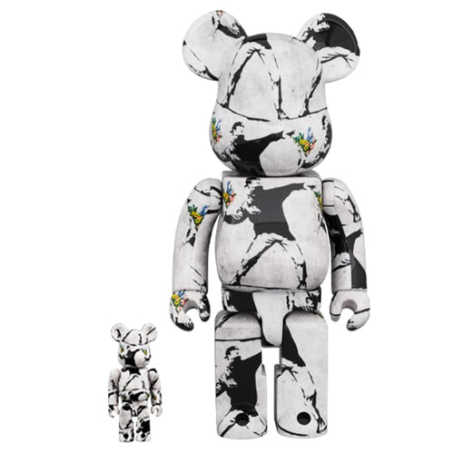 BANKSY (after) x Be@rbrick 'Flower Thrower' Art Figure Set